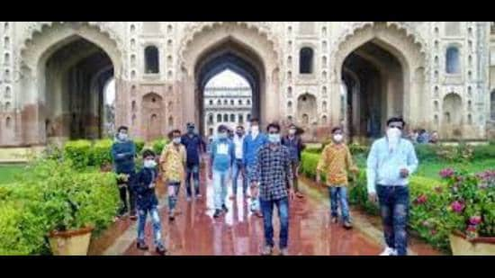 The Trust is custodian of many monuments like the Chota Immabara, Bara Imambara and the Hussainabad Clock Tower in Lucknow (HT file)