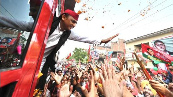 It is Akhilesh Yadav's party that remains at the forefront of the battle to win power in 2022 (HT PHOTO)