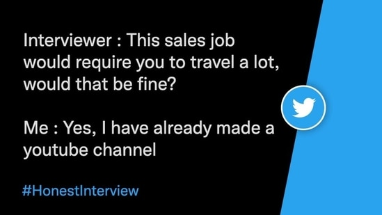 A post shared by a Twitter user under Honest Interview trend.(Twitter/@iamBawaal)