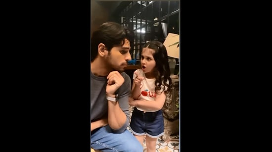The image shows Sidharth Malhotra with the girl.(Instagram/@sidmalhotra)