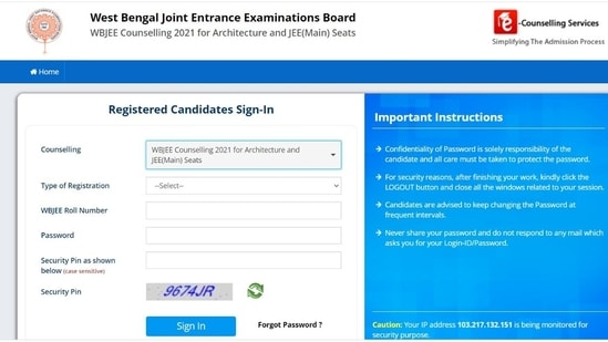 WBJEE 2021 second seat allotment result declared at wbjeeb.nic.in, link here
