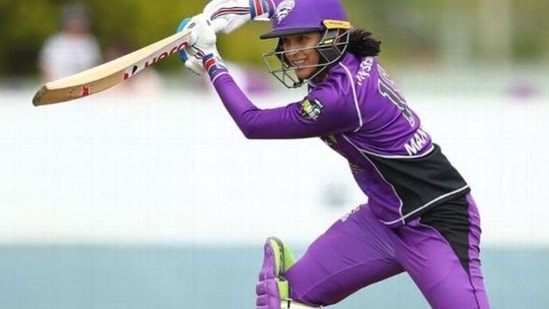 File image of India's Smirti Mandhana representing Hobart Hurricanes in WBBL(Getty Images)