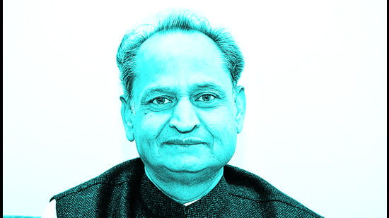 Ashok Gehlot is not part of the CWC but in most meetings held so far, the chief ministers of Congress-ruled states had been attendees. (HT PHOTO.)