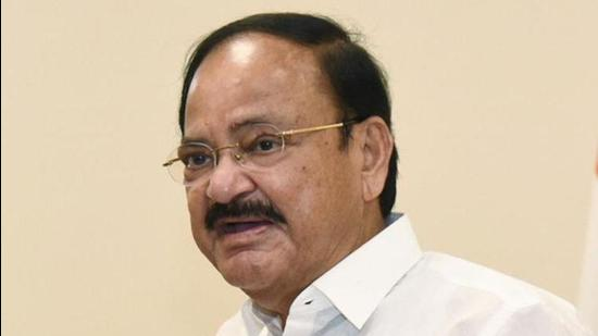 Vice President M. Venkaiah Naidu made a two-day visit to Arunachal Pradesh over the weekend as part of a tour of the northeast, and addressed a special session of the state assembly in Itanagar on Saturday. (PTI PHOTO.)