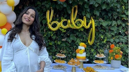 Freida Pinto at her baby shower.