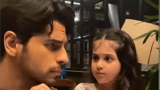 Sidharth Malhotra with his little fan Shivani(Instagram)