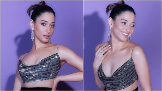 Tamannaah Bhatia in bralette and thigh-slit skirt will make your heart skip a beat(Instagram)