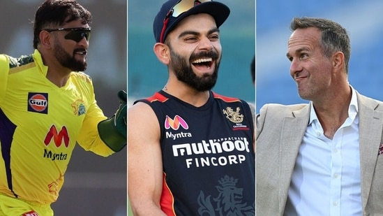 Michael Vaughan says RCB need a captain who knows how to manage Virat Kohli, like MS Dhoni did.(IPL/Getty)
