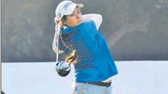 Amandeep Drall (68-74) had an off day with three bogeys on the front nine against just one birdie on the back at Chandigarh Golf Club. (HT FILE PHOTO)