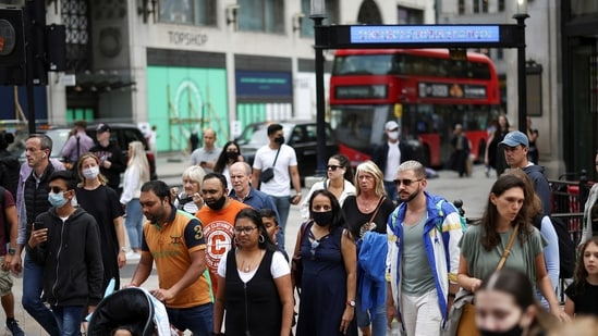People walk through Oxford Circus, amid the Covid-19 outbreak, in London, Britain (Used only for representative purpose).