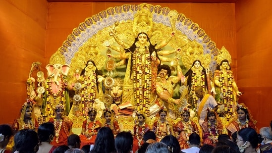 There are more than 3,000 pandals in Bangladesh observing Durga Puja at present.(ANI Photo/Representative Image)