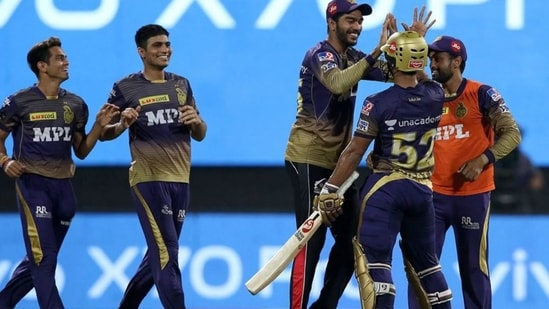 KKR players celebrate after defeating DC in IPL 2021 Qualifier 2(iplt20.com)