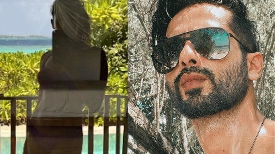 Shahid Kapoor and Mira Rajput share pictures from the Maldives.