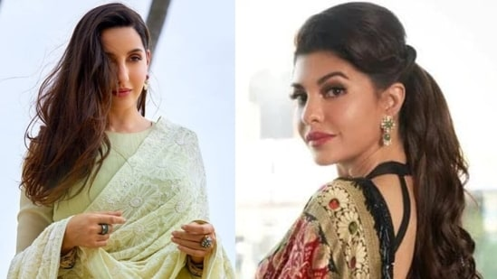 Bollywood actors Nora Fatehi and Jacqueline Fernandez(File Photo)