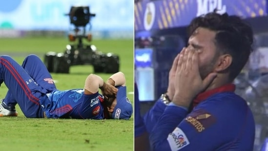Shaw in tears, Pant turns emotional as DC gets knocked out of IPL 2021(HT Collage)
