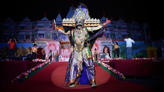 The festival is celebrated across the country to mark the victory of good over evil.