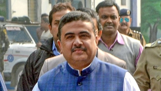 Suvendu Adhikari is the leader of opposition in West Bengal assembly.(PTI)