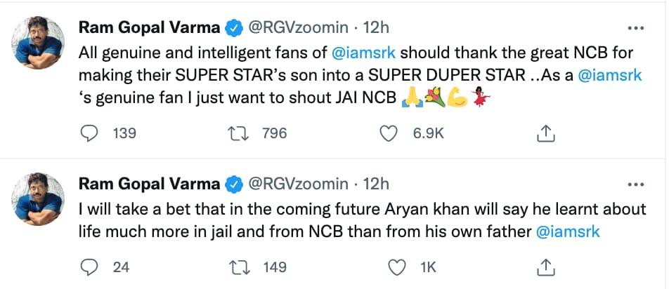 Ram Gopal Varma's tweets.