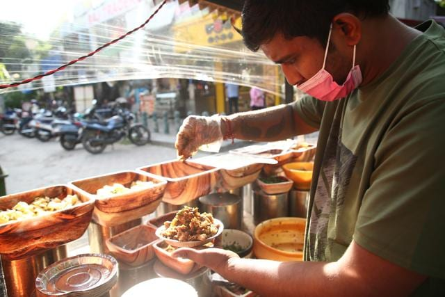 Available at CR Park Market 1, Churmoor is a favorite amongst the customers who visit it regularly to enjoy it.  (Photo: Rajesh Kashyap/HT)