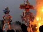 Dussehra 2021: The Ramlila is a cycle of plays that recounts the epic story of Lord Rama, particularly relating to the dramatic plays and dance events staged during the annual autumn festival of Navratri.(File Photo)