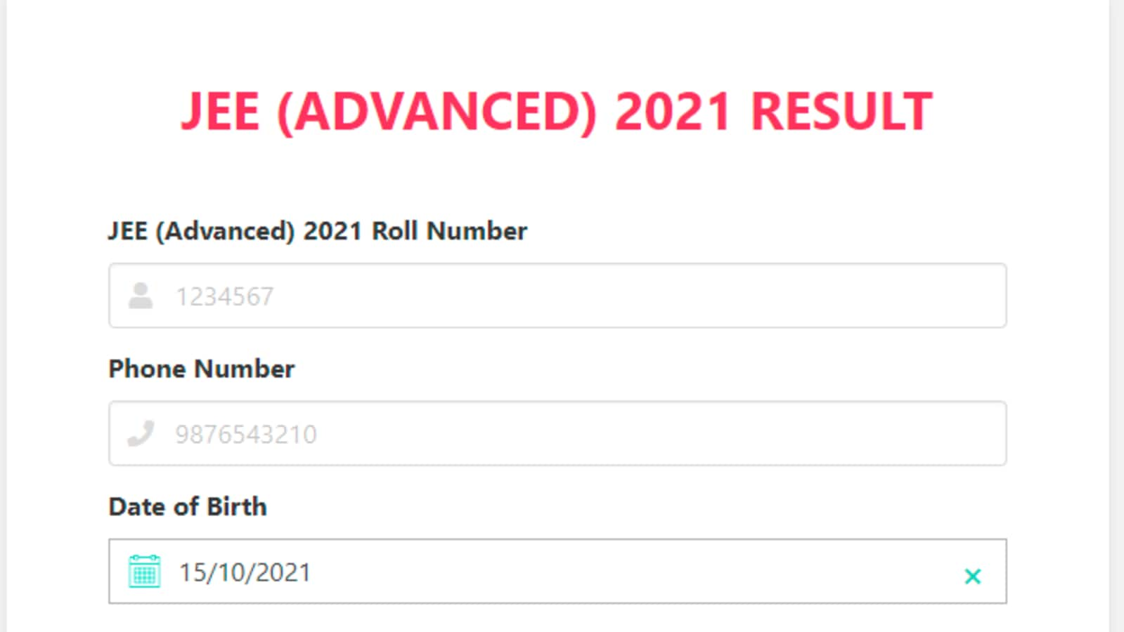 JEE advanced 2021 result declared at jeeadv.ac.in - Hindustan Times
