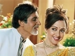 Hema Malini reunited with her Satte Pe Satta co-star Amitabh Bachchan for the 2003 film Baghban. They were appreciated for their performance as an elderly married couple.