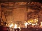 Bhiwandi: A fire broke out at a furniture warehouse in Chamunda Complex in Kasheli village, Bhiwandi.(Praful Gangurde / HT PHOTO)