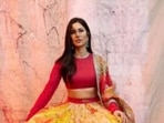 When it comes to fashion, Katrina Kaif can make every attire look good. From traditional attires to casual Western ones, the actor never fails to set fashion goals higher for us. On Friday, Katrina wished her Instagram family on Dussehra with a set of pictures from her recent fashion photoshoot. We are still drooling how perfectly she blended ethnic and casual in a lehenga.(Instagram/@sabyasachiofficial)