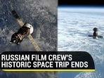 Russia's Yulia Peresild and Klim Shipenko returned to Earth after spending almost 2 weeks in space (AFP/NASA)