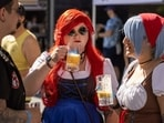 This is one of the most sought after vegan food festivals in LA that features cold German beers and delicious vegan foods. The event happened in LA Studious on October 16.(AFP)