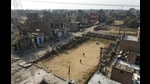 Bawana in outer Delhi is one of the land pooling areas which will be studied by the DDA. (Sushil Kumar/HT PHOTO)