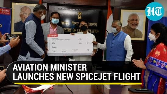 Civil Aviation Minister Jyotiraditya Scindia called the Delhi-Tirupati flight important (ANI)