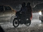 India Meteorological Department (IMD) has predicted light intensity rains over the national capital and nearby areas for the next two hours.(ANI)