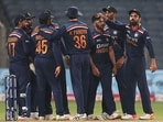 The Indian cricket team against England back in March 2021.(Getty)