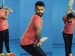 On a scale of 1-10, how much would you rate Virat Kohli's impersonation of Shikhar Dhawan.(Twitter)