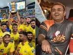 Virender Sehwag is pleased with the effort of the CSK all-rounder.(CSK/Getty)
