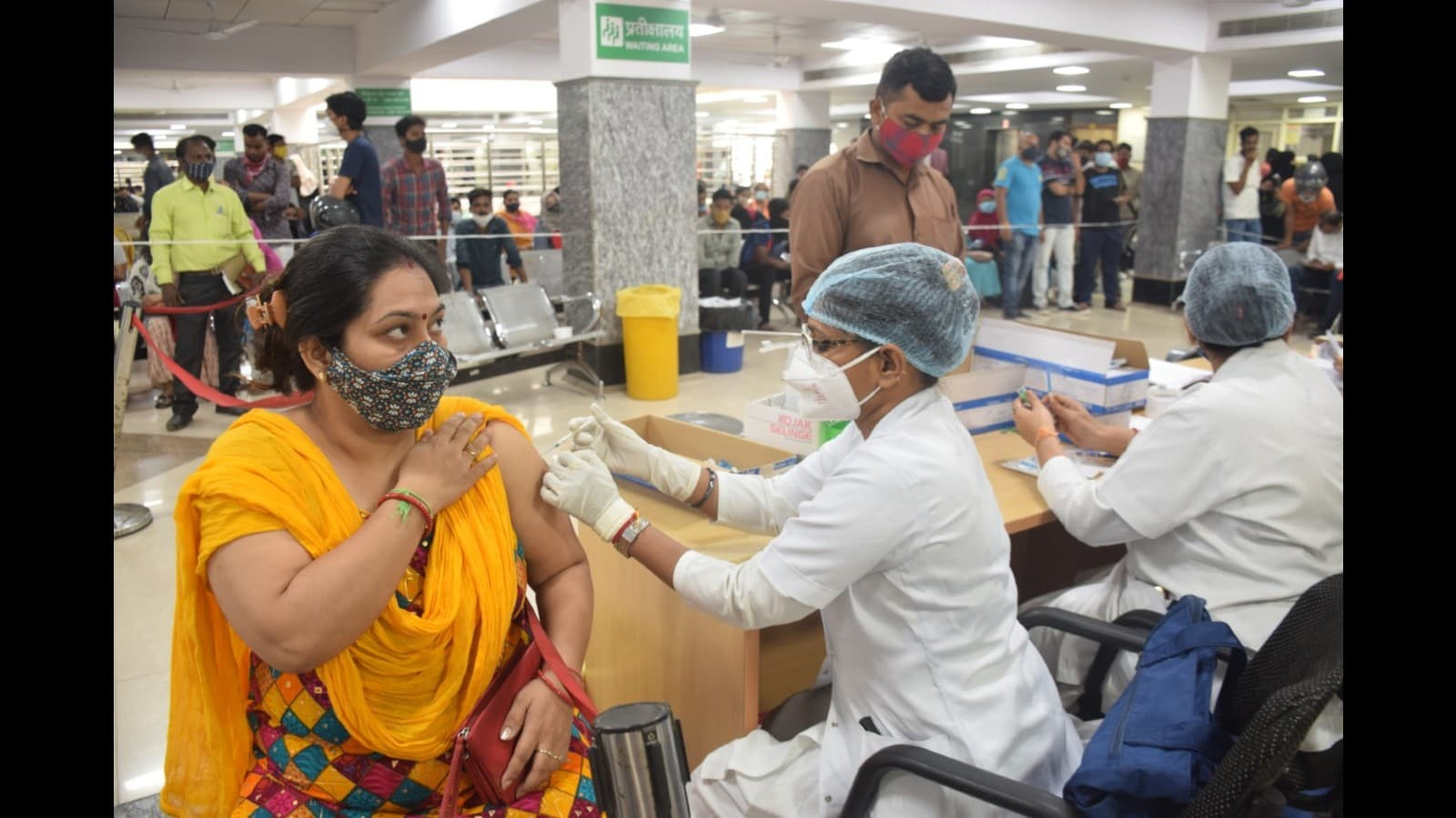 Over 60,000 get Covid vaccine jabs in Lucknow in a day