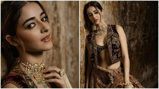 Ananya Panday, in a traditional attire, looks right out of a dream(Instagram/@ananyapanday)
