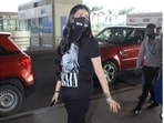 Mumbai airport was star-studded on Tuesday as multiple celebrities flew out of the city. Also while at it, they set major goals of airport fashion, and fashion police have been on constant alert since their appearance. While Shilpa Shetty blended casual and formal, Shruti set sassy standards of casual outlook.(HT Photos/Varinder Chawla)