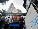 People stand outside the Bombay Stock Exchange (BSE)(REUTERS/Francis Mascarenhas)