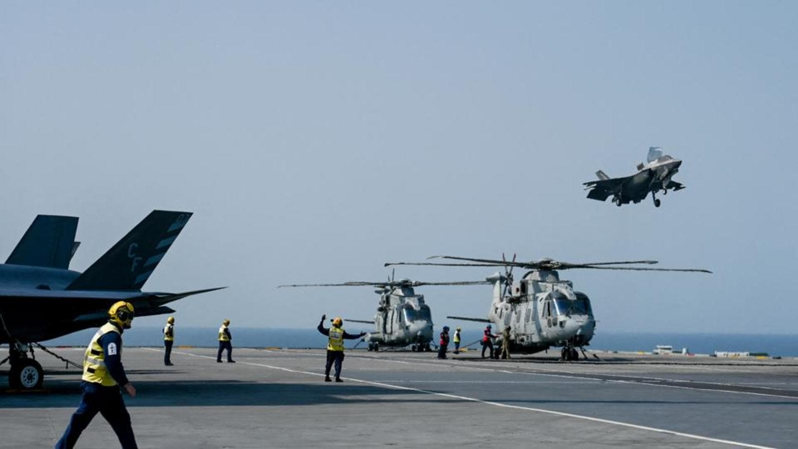 UK's Carrier Strike Group warship at Mumbai coast for joint exercises with Indian Navy