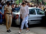 Ananya Panday was interrogated on Thursday afternoon at the NCB office in Mumbai.(AFP)
