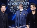Amitabh Bachchan with Shaan and Sonu Nigam(Twitter)