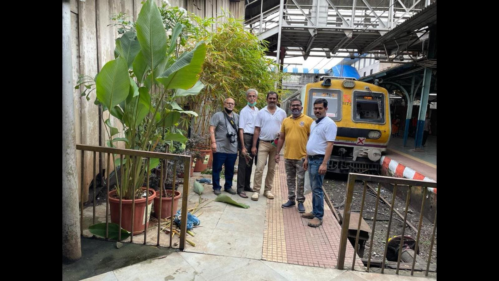 Thane railway station platforms get fresh look with plants, flowers