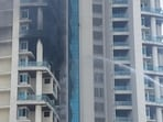 The fire at Mumbai's Avighna Park that claimed one life has once again turned the spotlight on fire safety in high-rises buildings.(Pratik Chorge/HT Photo)