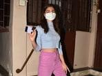 Alia Bhatt oozes hot summer charm in <span class='webrupee'>₹</span>2k knit crop top, pastel purple pants(Elevate Promotions)