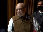 Union home minister Amit Shah speaks about the delimitation of Jammu and Kashmir and its restoration of statehood at an event with members of Jammu and Kashmir's Youth Clubs in Srinagar.