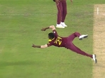 Akeal Hosein takes a stunning catch during England-West Indies tie(Instagram grab)