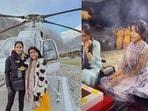 Samantha Ruth Prabhu with friend Shilpa Shetty during her Char Dham Yatra.