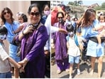Shilpa Shetty went on a holiday with her family to Alibaug.(Varinder Chawla)